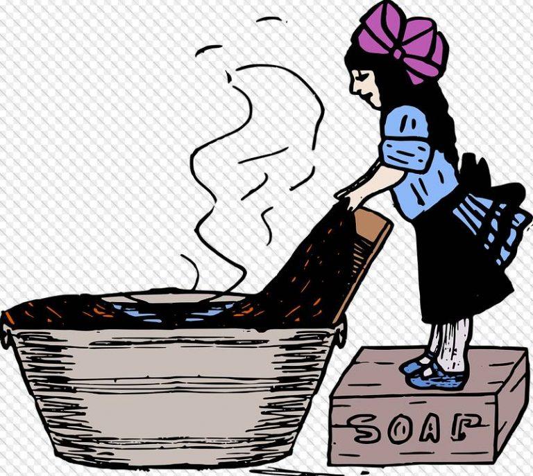 pranie z wykorzystaniem mydła